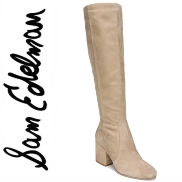b6883a7dd Sam Edelman Oatmeal Thora Knee High Boot Size 7.5